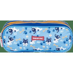Estojo-2-Compartimentos-Sestini-Kids-18Y-Dog-Colorido-Frente