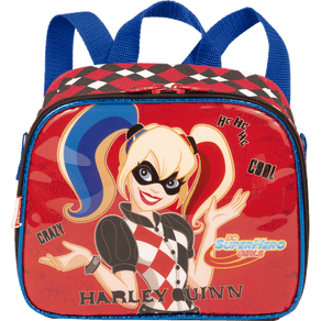Lancheira-Pequena-Super-Hero-Girls-19Y-Harley-Queen-Colorido-Frente