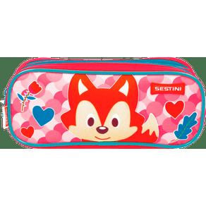 Estojo-2-Compartimentos-Sestini-Kids-19Y-Fox-Colorido-Frente