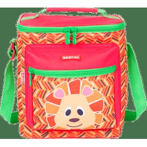 Lancheira-Especial-Sestini-Kids-19Y-Lion-Colorido-Frente