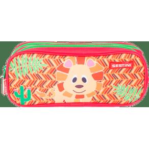 Estojo-2-Compartimentos-Sestini-Kids-19Y-Lion-Colorido-Frente
