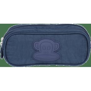 Estojo-2-Compartimentos-Paul-Frank-19T03-Azul-Marinho-Frente