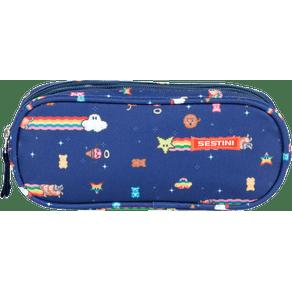 Estojo-2-Compartimentos-Sestini-19M-Azul-Frente