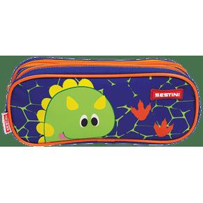 Estojo-2-Compartimentos-Sestini-Kids-X-Dino-Colorido-Frente