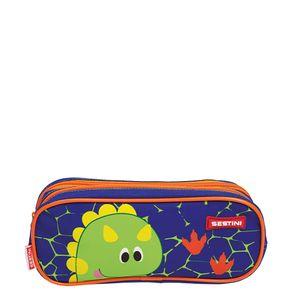 Estojo-2-Compartimentos-Sestini-Kids-Dino-2-Colorido